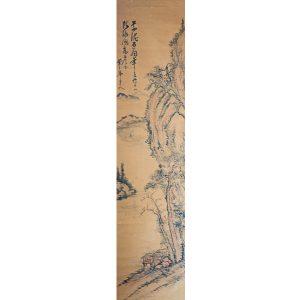 初代 赤沢華峯(元次郎)山水図
